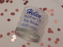 Personalised Wedding Tumbler Glass With Name, Role & Date
